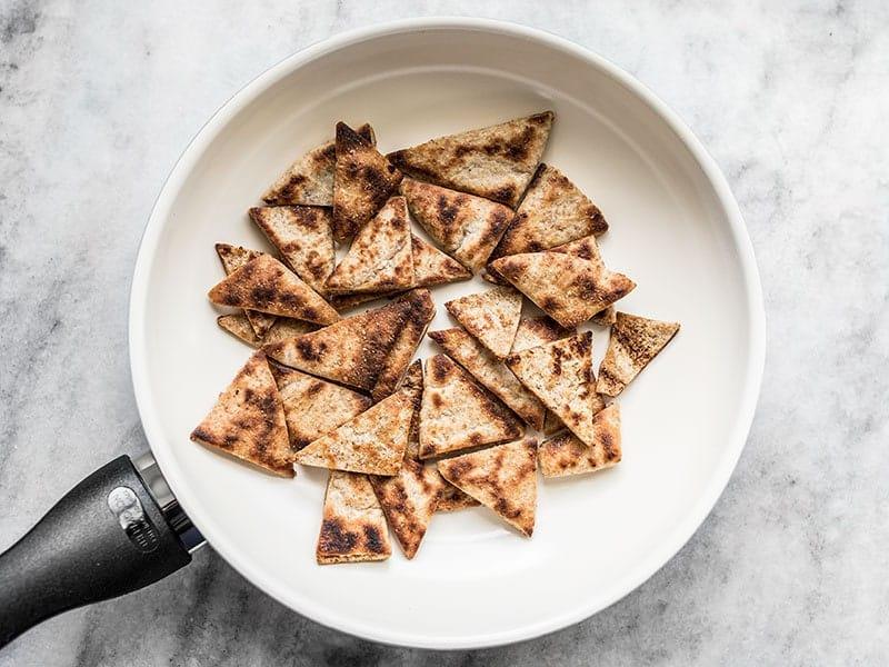Toast Pita in Skillet