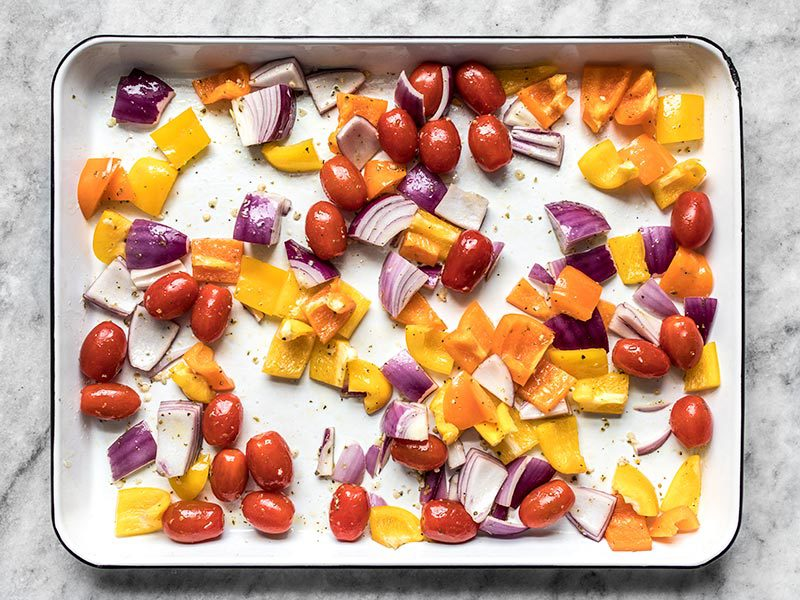 Chopped Vegetables in Marinade
