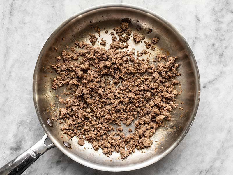 Seasoned Browned Beef for Mediterranean Hummus Bowls