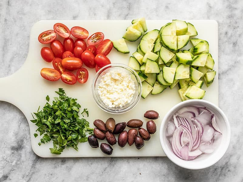 Toppings for Mediterranean Hummus Bowls