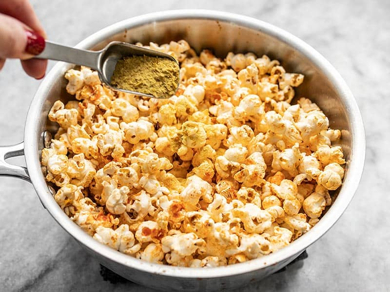 Add Nutritional Yeast to Popcorn