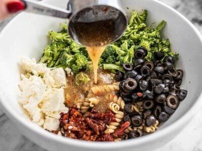 Add Salad Dressing to Pasta Salad