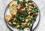 Sun Dried Tomato, Kale, and White Bean Skillet