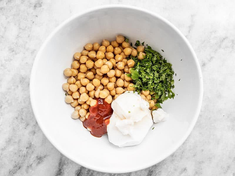Sriracha Chickpea Salad Ingredients