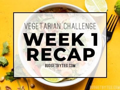 Vegetarian Challenge Week 1 Recap