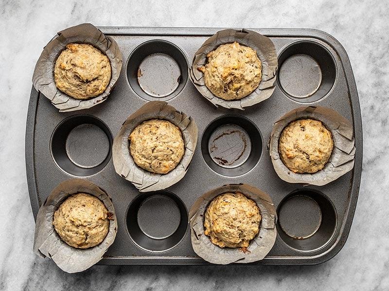 Baked Banana Flax Muffins
