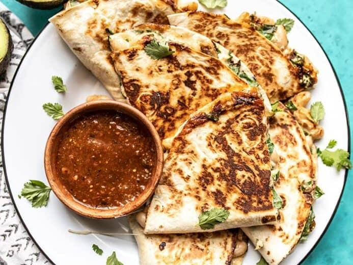 Creamy White Bean And Spinach Quesadillas 399 Recipe