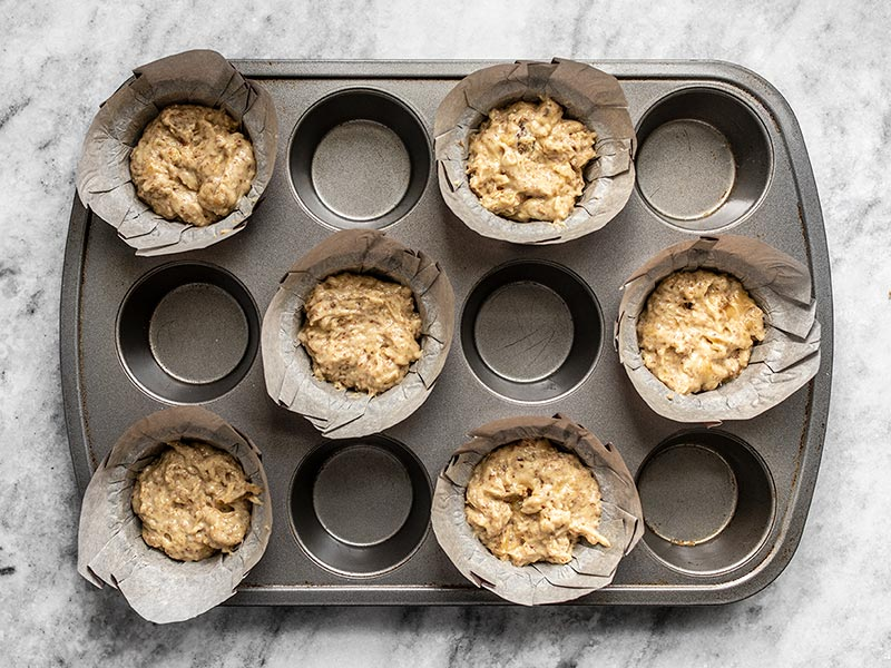 Unbaked Banana Flax Muffins