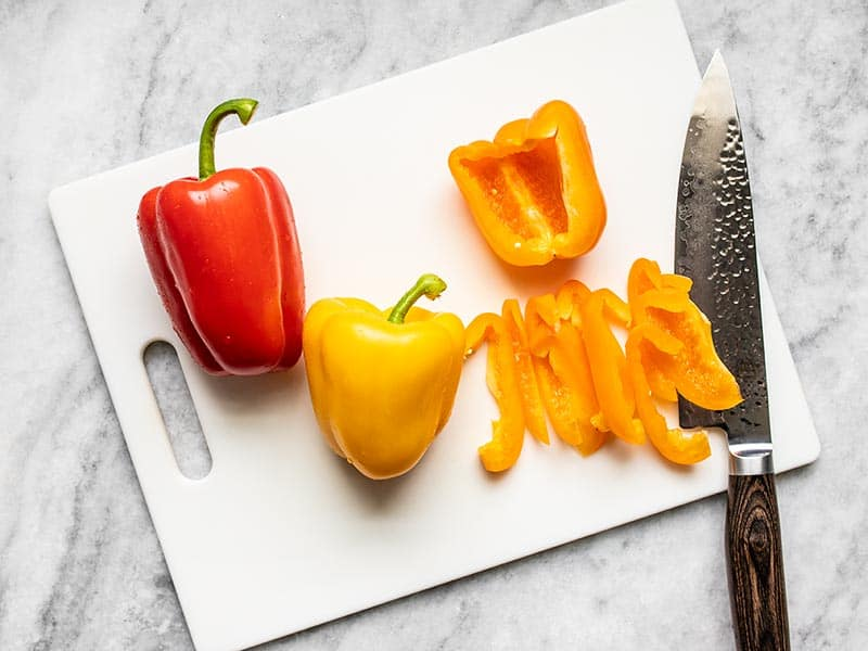 Slice Three Bell Peppers