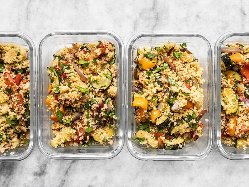 Portioned Roasted Vegetable Couscous