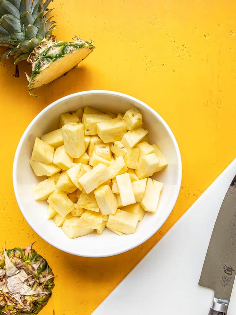 How to Cut and Freeze Pineapple