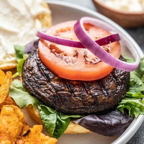 Marinated Portobello Mushroom Burgers Budget Bytes