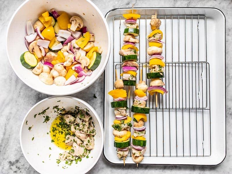 Build Chimichurri Chicken Kebabs