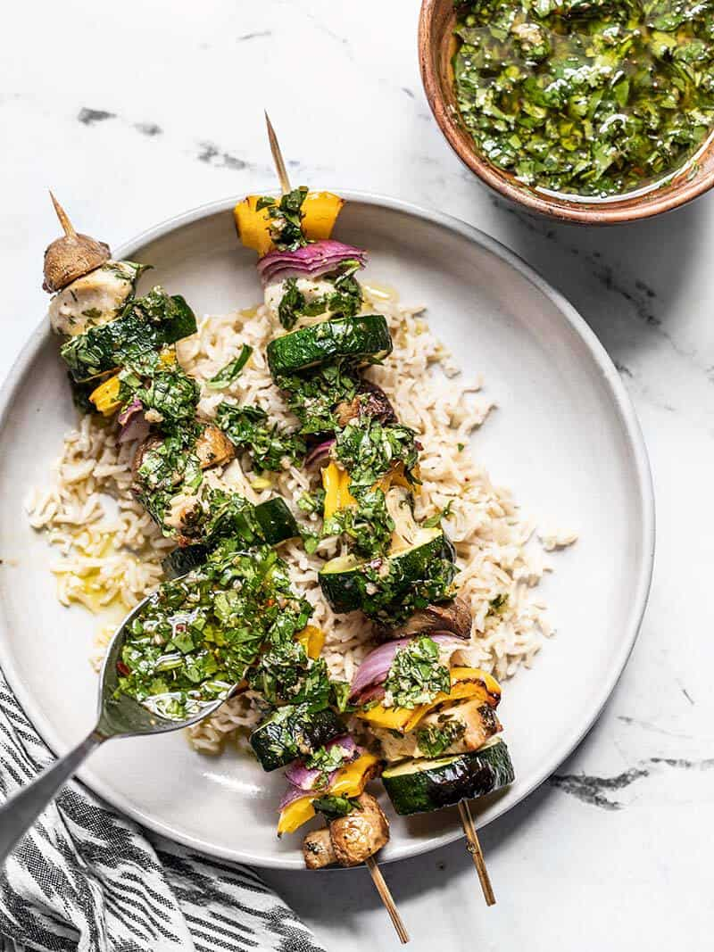 Chimichurri Chicken Kebabs