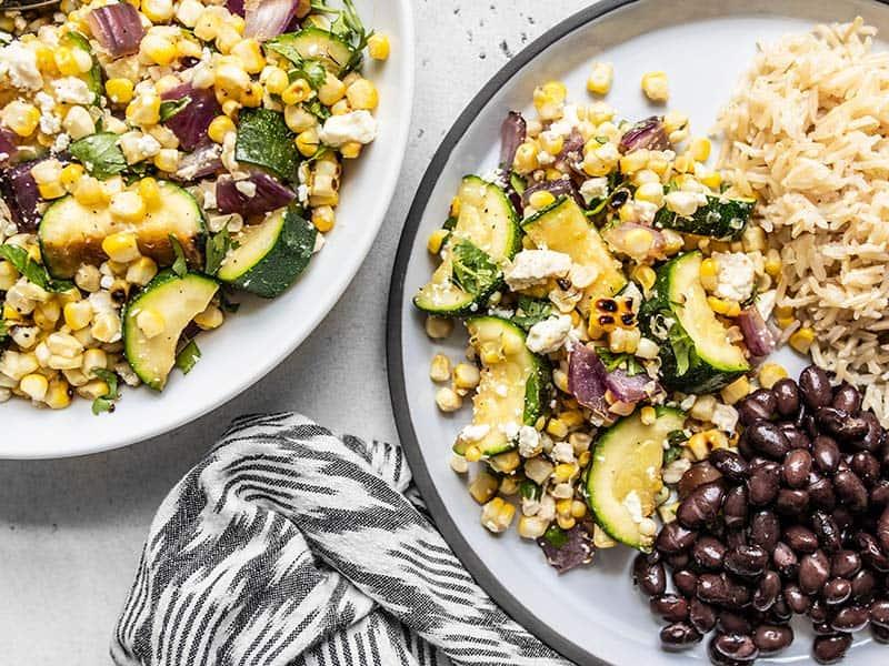 Charred Corn and Zucchini Salad