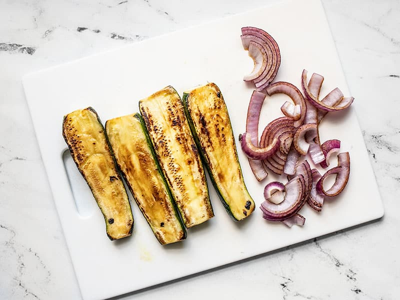 Charred Zucchini and Red Onion