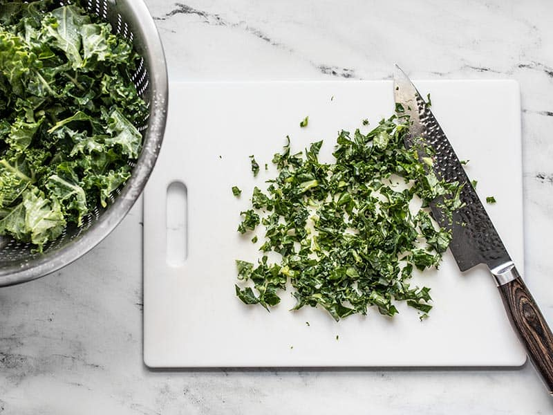 Finely chopped kale