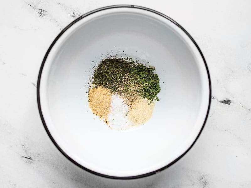 Herbs and Spices for Lemon Dill Tahini Dressing
