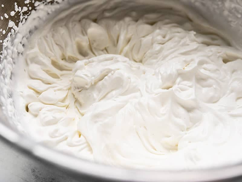 Heavy Whipping Cream whipped to stiff peaks