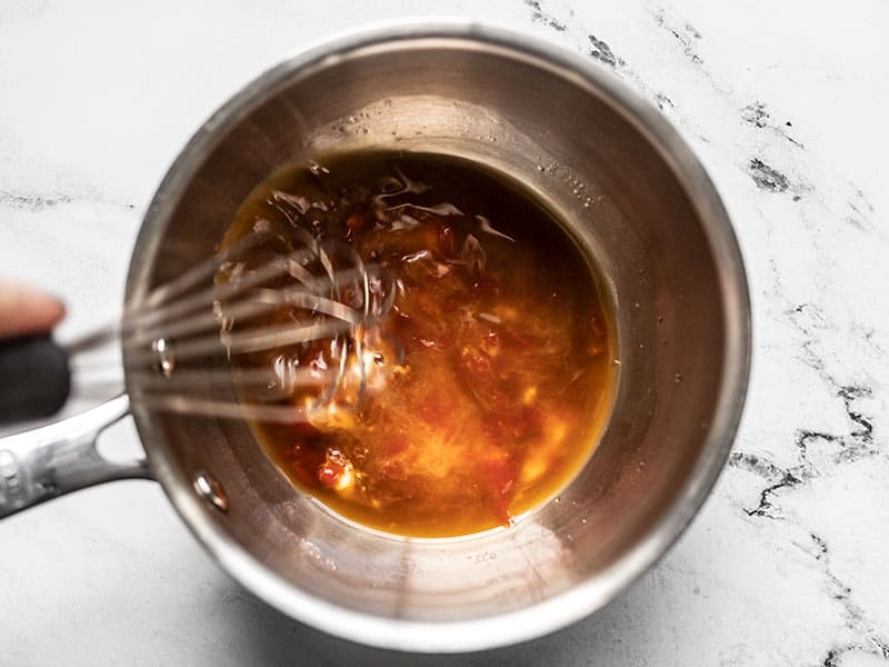 Whisk Sweet and Sour Sauce Ingredients in a pot
