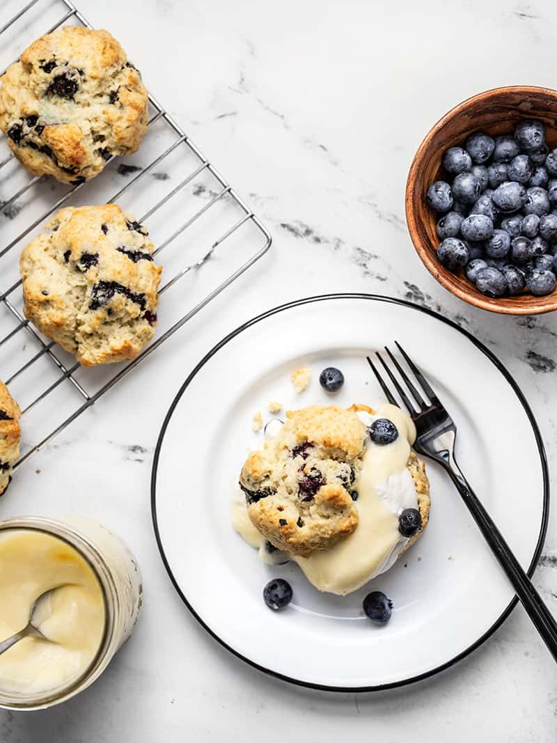 Blueberry Lemon Curd Shortcakes