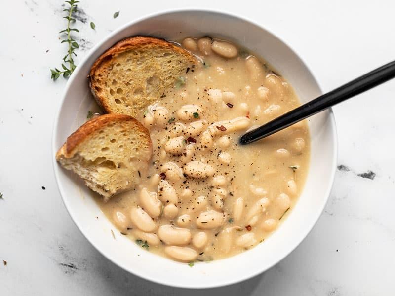 Easy Rosemary Garlic White Bean Soup Budget Bytes