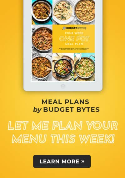 Banner ad for Budget Bytes Meal Plans