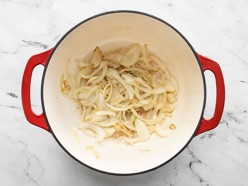 Caramelized onion in the pot