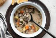 Creamy Vegetable Wild Rice Soup (Vegan)