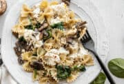 Mushroom and Spinach Pasta with Ricotta