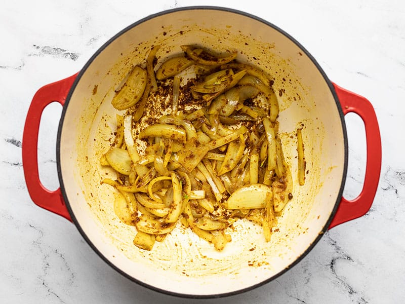 Sauté Onions in curry powder