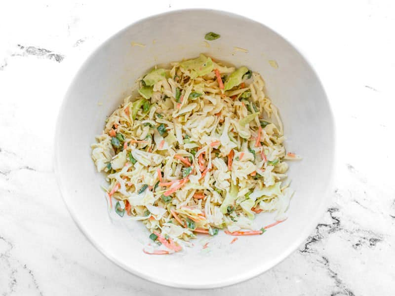 Finished Creamy Coleslaw