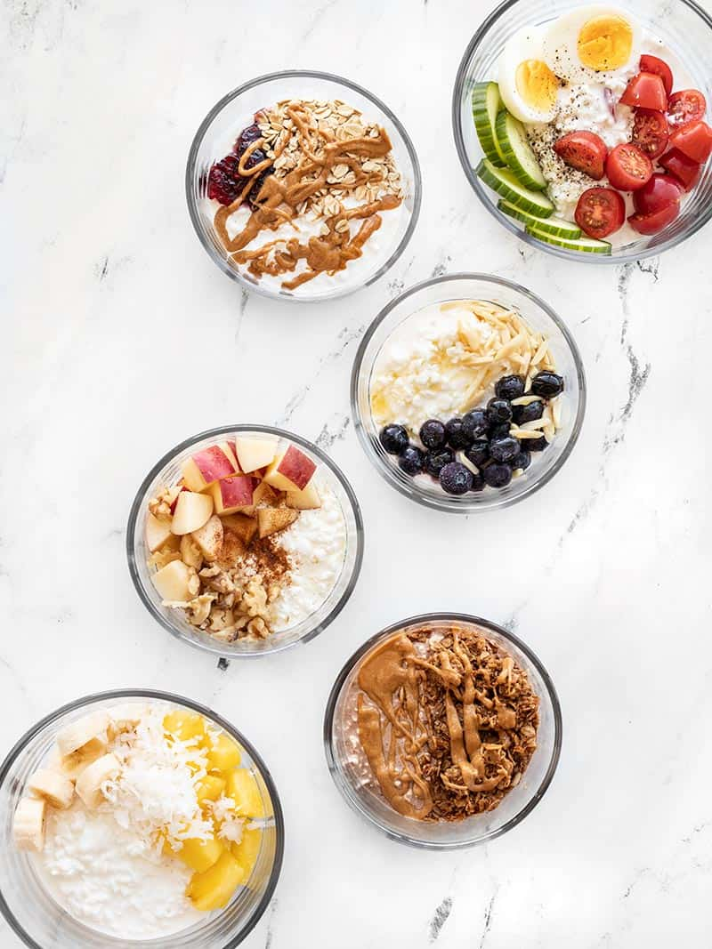 Cottage Cheese Breakfast Bowls 6 Ways