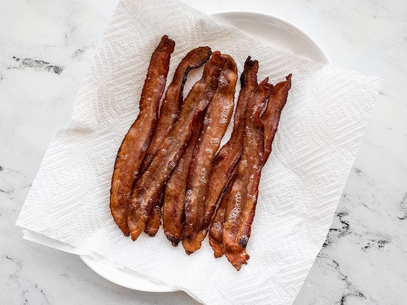 Transfer bacon to a paper towel lined plate