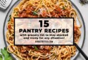 15 Pantry Recipes for Emergency Preparedness