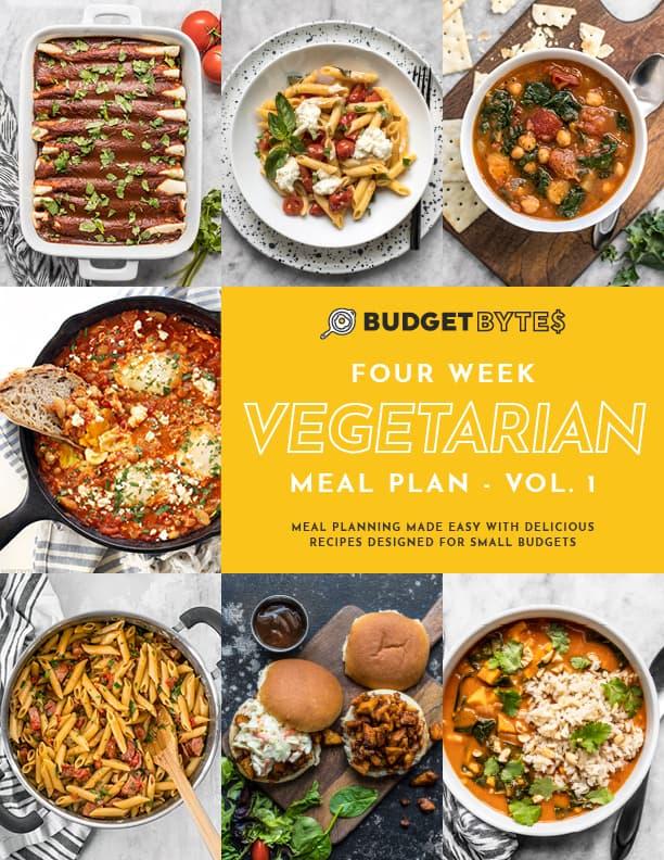 Vegetarian Vol. 1 Meal Plan Cover