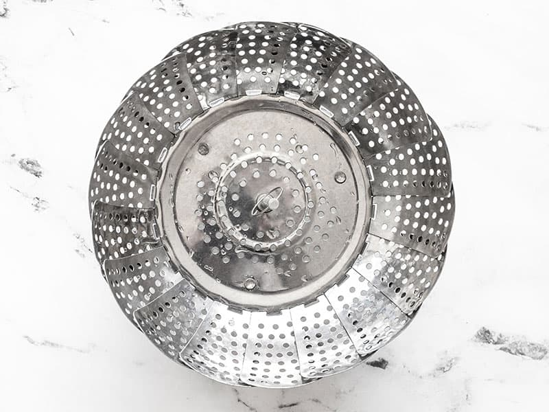 metal steam basket