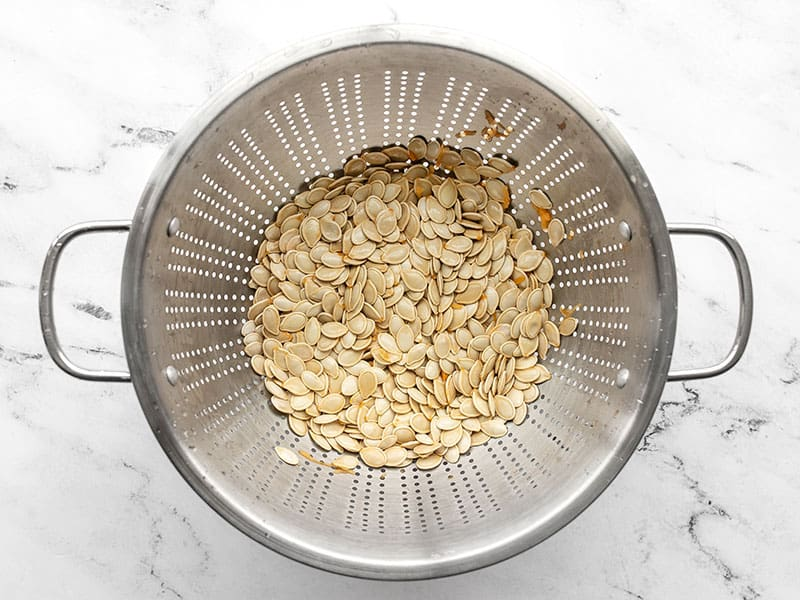 Rinsed pumpkin seeds
