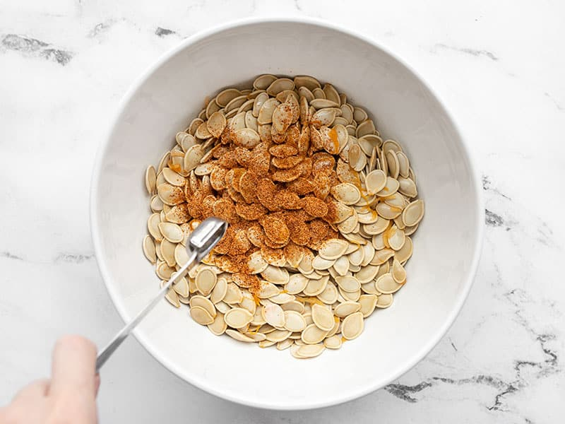 Season pumpkin seeds