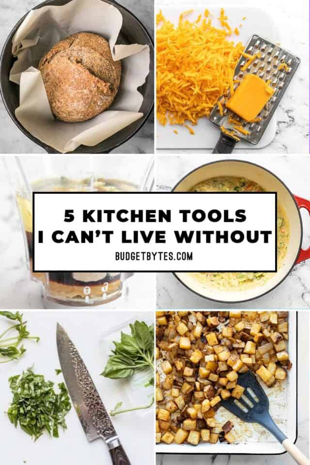 kitchen tool thumbnails with title text overlay