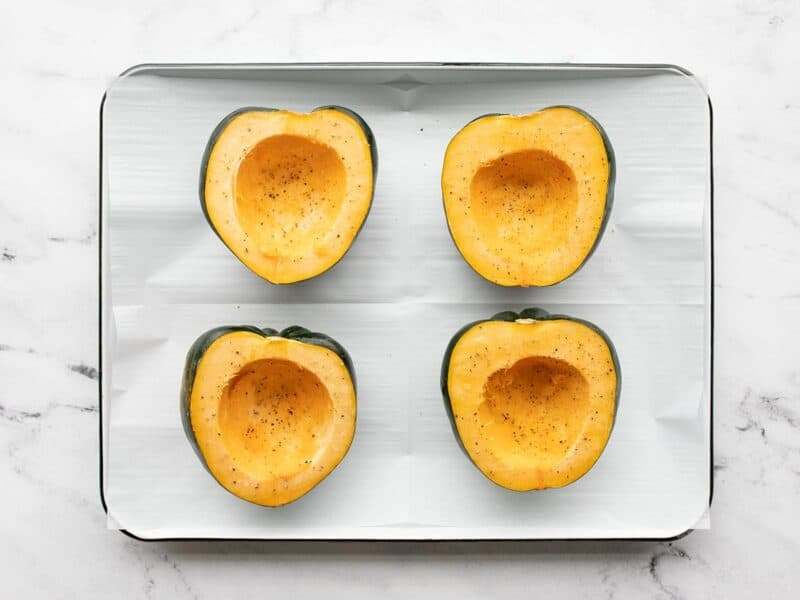 Seasoned cut acorn squash