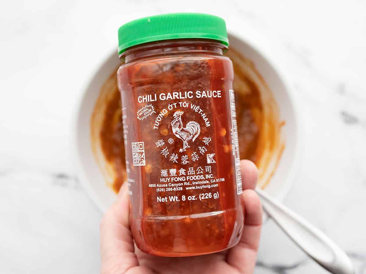 jar of chili garlic sauce