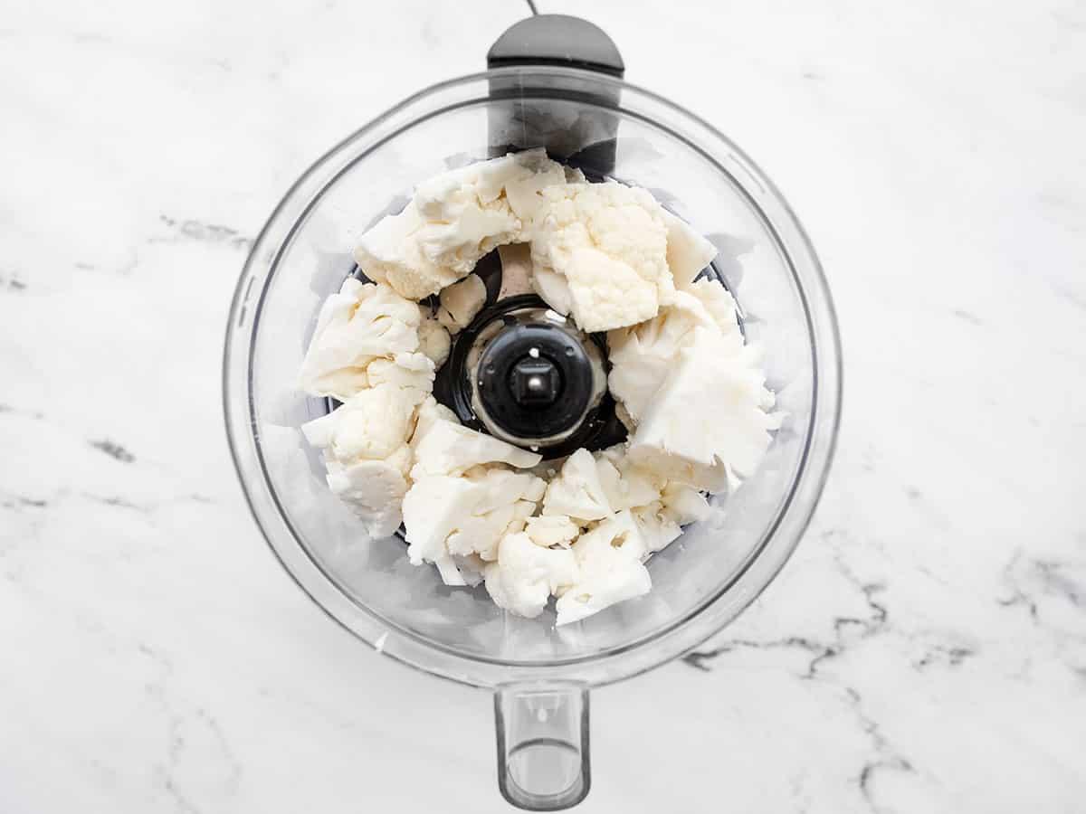 Cauliflower in the food processor