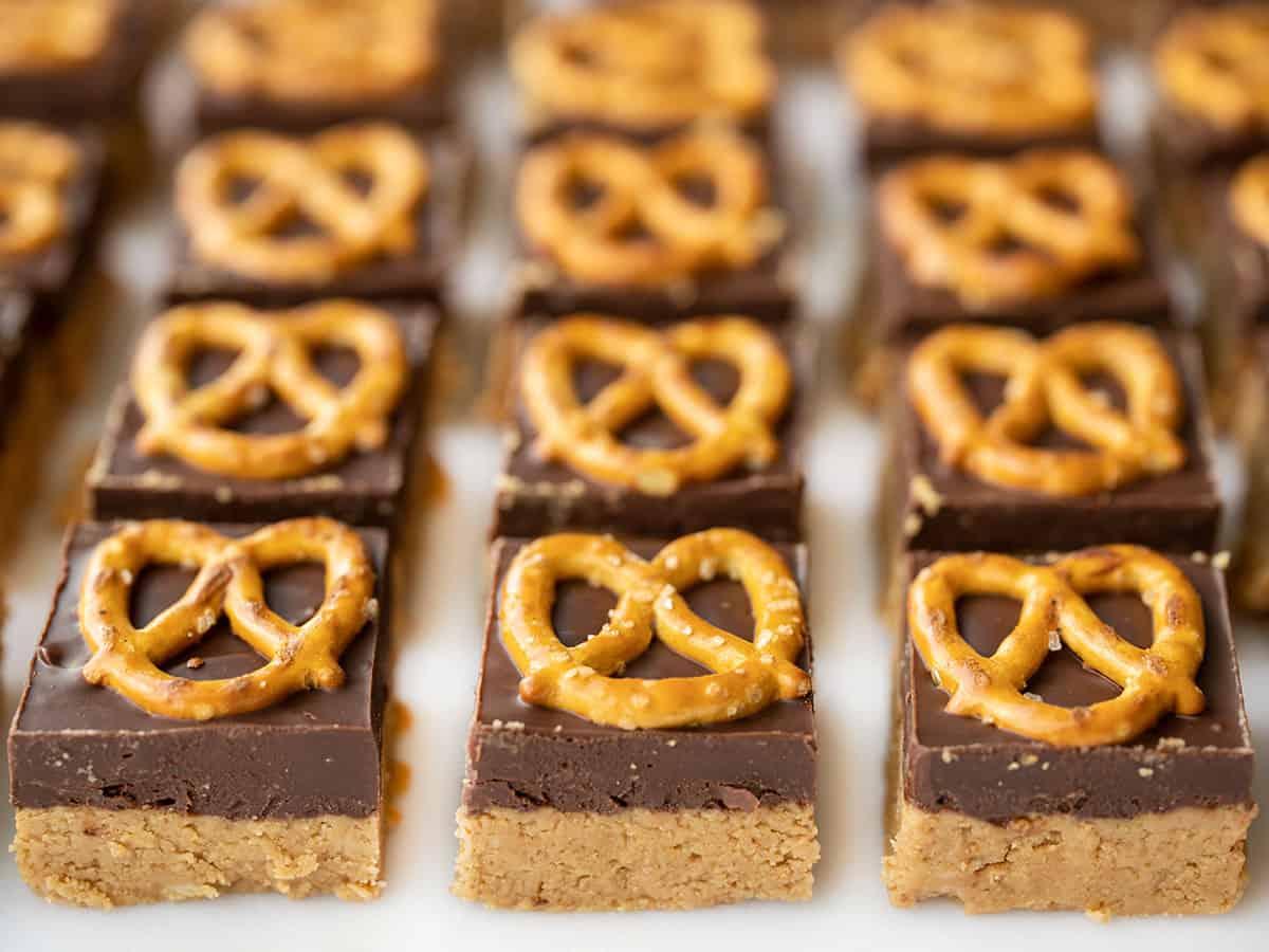 No Bake Pretzel Peanut Butter Bars