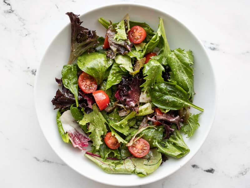 side salad with tomatoes