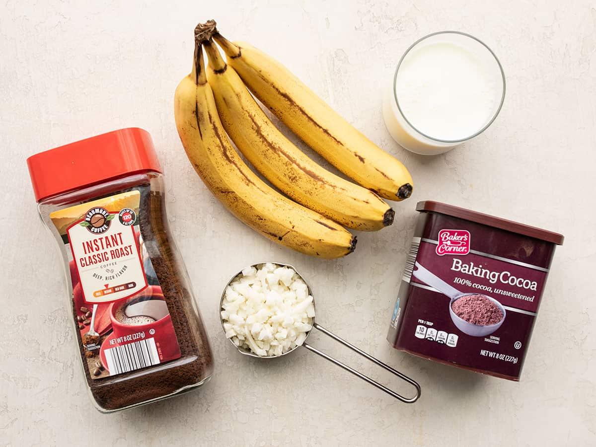 chocolate coffee breakfast smoothie ingredients
