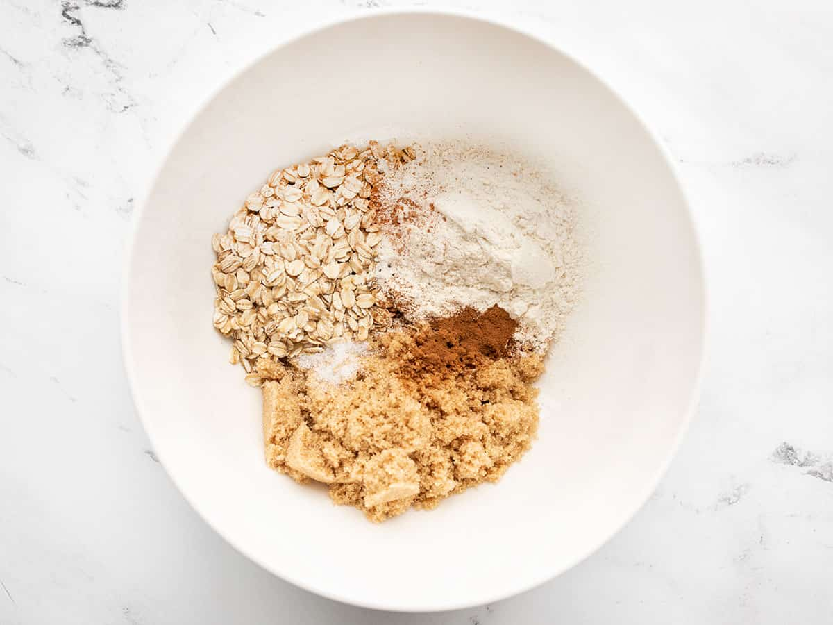 ingredients for oat topping